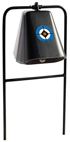 Do-All Outdoors Steel Cow Bell Shooting Plinking Target Rated for .22 Caliber , black
