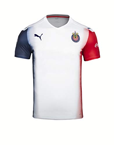 PUMA 2020-21 Chivas Youth Away Jersey - White-Red-Blue Youth Small