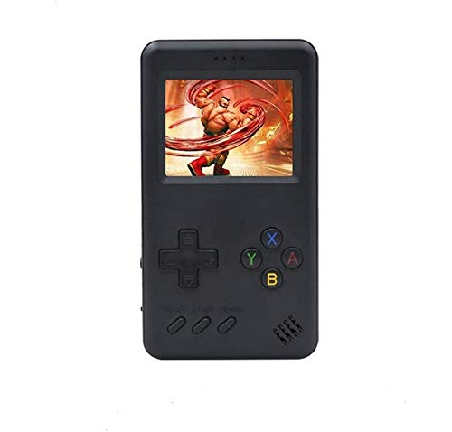 MJKJ Handheld Game Console Retro Gaming Machine with 10000mAh Game Power Bank Built-in 500 Classic Games Game Battery Power Bank - Black