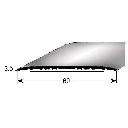 **TOPSELLER** Übergangsprofil/Übergangsschiene / 80 mm, Typ: 350 (Aluminium, selbstklebend), Farbe: SILBER