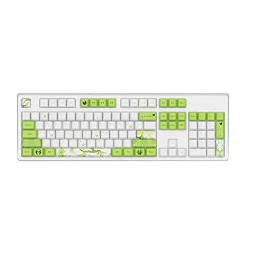 juqingshanghang1 104 Keys Wired Mechanische Keyboard-Kappe Gaming Office Desktop-Computer-Laptop-Zubehör für Home Business School Geeignet für Computerperipheriegeräte (Color : 2)