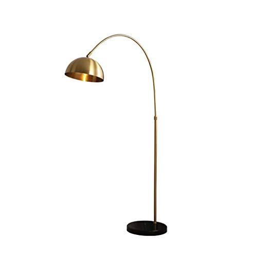 No Brand® Klassieke staande lamp voor op het bureau, modern, plafondlamp, slaapkamerlamp, verstelbaar, verticaal, koperkleurig, verlichting voor thuis 12-31