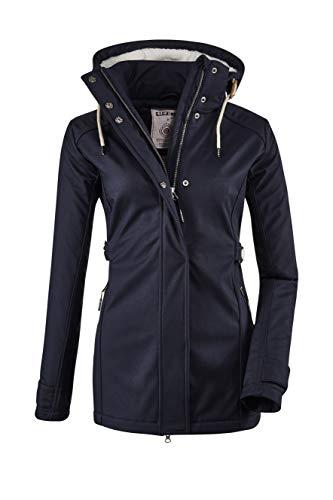 G.I.G.A. DX Damen Cushy WMN Jckt A Casual Softshell Jacke Mit Abzippbarer Kapuze, dunkelnavy, 42