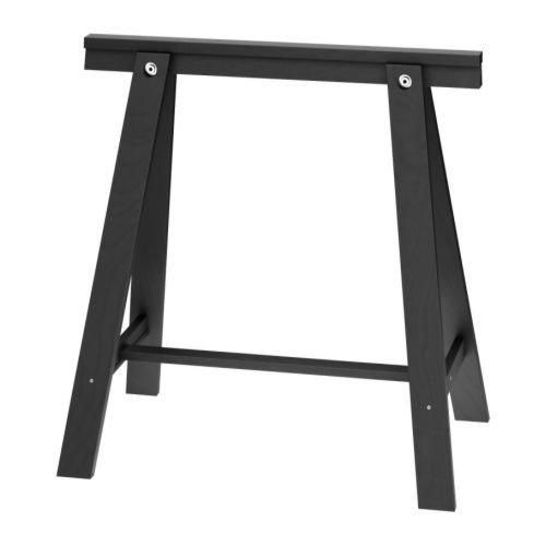 IKEA ODDVALD Tischbock in schwarz; aus Massivholz; (70x70cm)