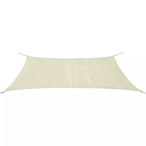 Tidyard Sonnensegel HDPE Rechteckig Gartensonnensegel Sonnenschutz Atmungsaktiv mit 4 x 1,5 m PE-Seil 90% UV-Schutz für Garten, Terrasse oder Spielplatz Farb- und Größenauswahl