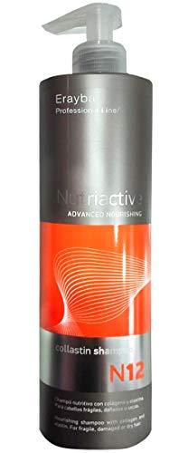 ERAYBA N12 COLLASTIN Shampoo 500ML, Único, Estándar, 500