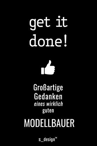 Notizbuch für Modellbauer / Bastler: Originelle Geschenk-Idee [120 Seiten kariertes blanko Papier]