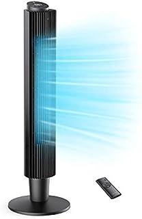 Ventilateur Tour Silencieux, Ventilateur Colonne sans Lame avec Télécommande, Écran Tactile LCD, 5 Vitesses 90° Oscillant ...