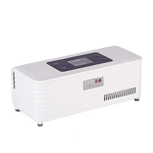 AiYe Kühltaschen & -boxen Mini-Kühlschrank Medikamentenkühlschrank und Insulinkühler - Reise-, Haushalts-, tragbarer Autokühlkoffer/kleine Reisebox für Medikamente, weiß