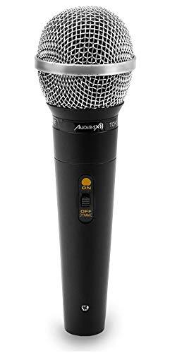 Audibax - Tokyo 1600 - Micrófono de Mano Cardiode - Dinámico y Unidireccional - Micrófono Karaoke de Calidad Profesional - Construcción Metálica Sólida - Micrófonos para Profesores