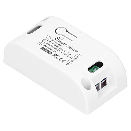 Kit De Control Remoto Inalámbrico, KR2201W ‑ 4 App Control Remoto Inalámbrico 433Mhz Controlador De Interruptor De Sincronización WiFi para Luz 90‑250V