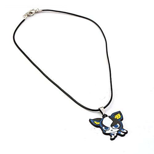 ZYLL Anime Lindo Perro de Dibujos Animados IGGY Colgante de Metal Collar de Cadena Gargantilla Joyas de Cosplay Collares