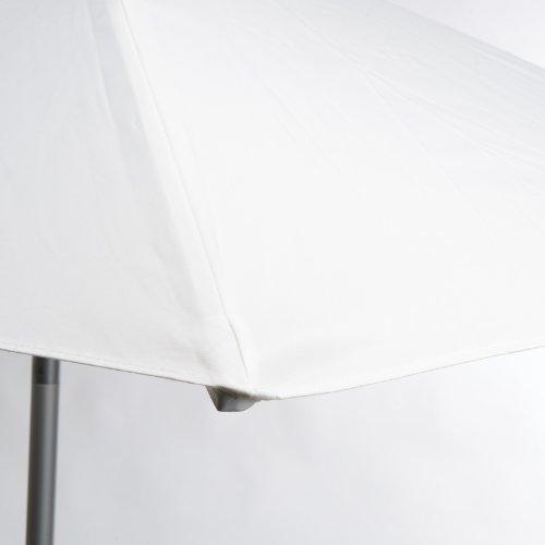 Jan kurtz parasol rond blanc 2,5 m en aluminium avec articulé elba