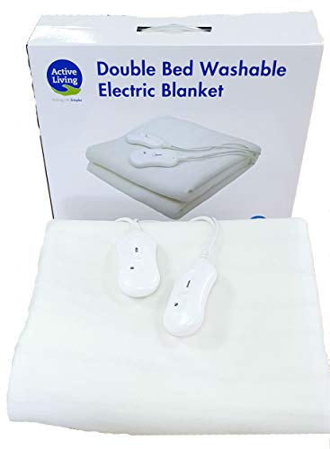 Active Living Double Bed Heated Electric Blanket 160x140cm