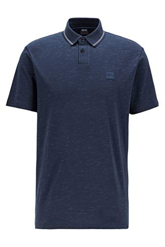 BOSS Herren Pemew Jersey-Poloshirt aus Baumwoll-Mix mit Struktur-Print