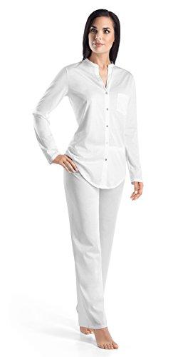 Hanro Pyjama 1/1 Arm Pijama para mujer, Blanco (White 0101), Large