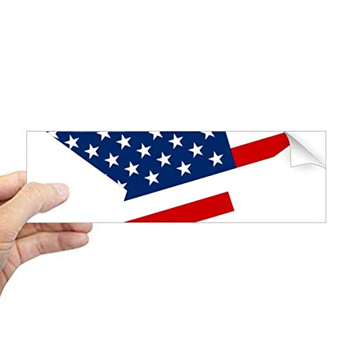 DIYthinker America Star Vlag de Verenigde Staten Patroon Rechthoek Bumper Sticker Notebook Window Decal