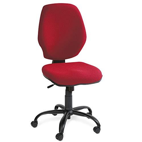 BRB bureaustoel perfect, synchroonmechaniek, extra hoge rugleuning 520 mm, rood