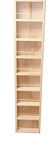 """Wood Cabinets Direct 55"""" Fulton - on The Wall Spice Rack - 14W - 3.5"""" Deep"""