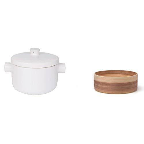 hongbanlemp Vaporeras para ollas Estufa de cerámica Doble Vapor Piedra Pot for Especial Gas Hogar Multi-Juego de Utensilios de Cocina la Vaporera