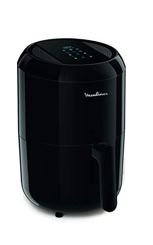 Moulinex EZ3018 Easy Fry Compact Precision, Freidora eléctrica, preparaciones con poco o sin aceite, tamaño ultracompacto, 6 modos preestablecidos, capacidad 1,6 L, pantalla táctil, color negro