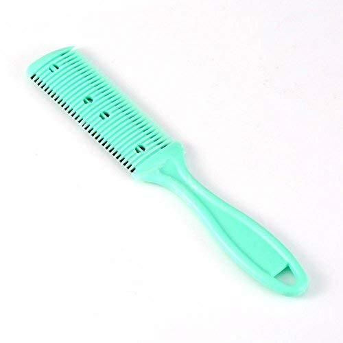 Yotown 2Pcs Hair Trimmer peigne, coiffure amincissement lame cheveux amincissement peigne deux lames de rasoir tondeuse cheveux vert