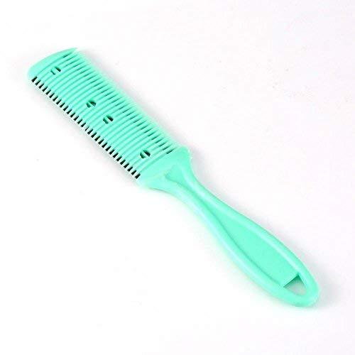 2 piezas peine del pelo del condensador de ajuste, peluquería que afina la cuchilla del condensador de ajuste del pelo que adelgaza el pelo peine dos cuchillas de afeitar recortador del pelo verde