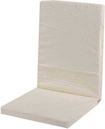 ldl Amortiguador de Asiento Plegable Colchoneta Silla reclinable Tumbona Cojín Respaldo Alto Asiento de jardín cojín for cenar al Aire reclinable Memory Foam Pad Chair (Color : Beige)