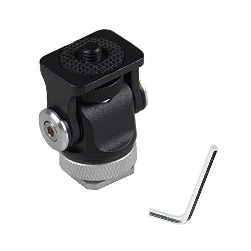 Aisnyho - Supporto in metallo per videocamere Vlogger a 180°, con attacco a freddo da 1/4