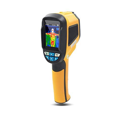Infrarot-IR-Wärmebildkamera Industrie-Handheld Wiederaufladbare Wärmebildgeräte Bildkamera, Sichtbares Licht Kamera, Temperaturbereich von -20 bis 300 ° C, 3,52 W High Pixel Imaging,Gelb