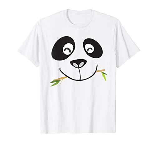 Cute Panda Face T-Shirt Halloween-Kostüm für Kinder & Erwachsene