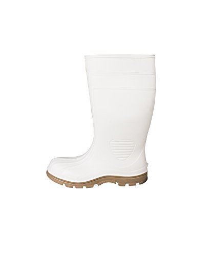 UltraSource 444006-10 PVC Economy Boots, Steel Toe, White, Size 10
