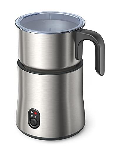 Milchaufschäumer Elektrisch, Automatischer Milchschäumer 500ml Edelstahl Entnehmbarer 4 in 1 Spülmaschinenfester Milchbehälter leise