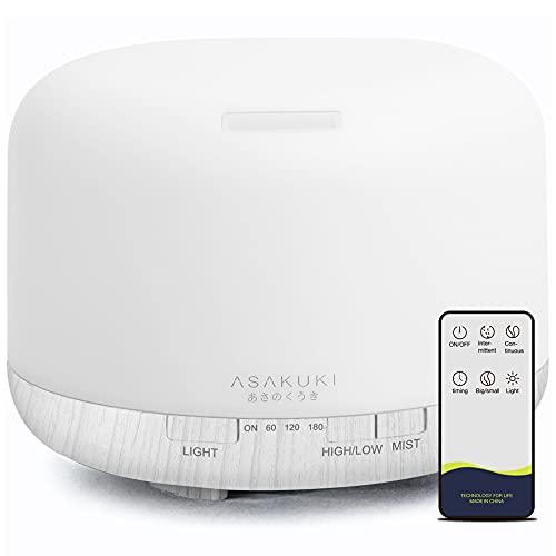 ASAKUKI 500ml Premium, Essential Oil Diffuser with Remote Control, 5...