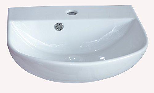 Lavabo in ceramica piccolo semicerchio bianco montaggio a parete lavabo in ceramica 43 x 36 x 18 cm