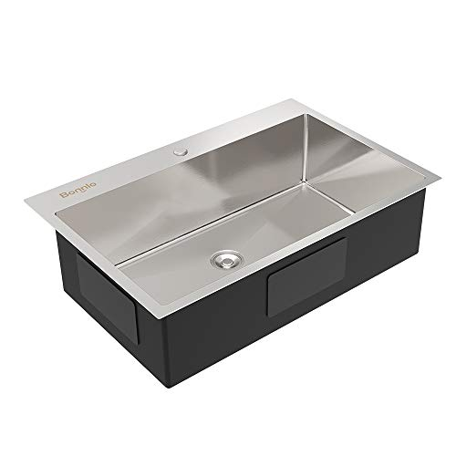 Bonnlo 30 Inch Drop-in Kitchen Sink 18 Gauge T304 Stainless Steel...