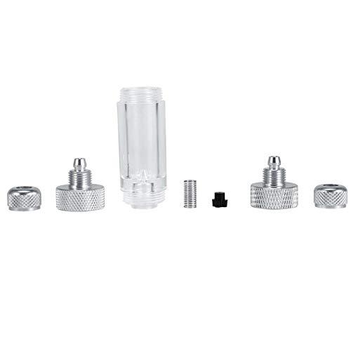 DAUERHAFT Confiable 2 Tipos Aleación de Aluminio Durable Conveniente Contador de Burbujas de CO2 Cabezal Doble y Cabezal único Plata(Double-Head Bubble Recorder)