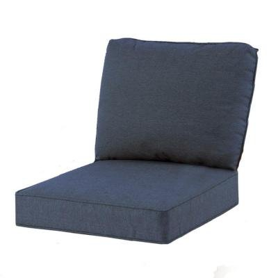 Hampton Bay Spring Haven Club Chair Blue Seat and Back Cushion Set