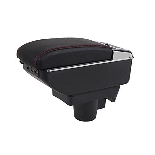 Caja Apoyabrazos Coche para Opel Astra H 2004-2014 Consola Central De Coche Reposabrazos USB Caja De Almacenamiento con Portavasos Cenicero Apoyabrazos Central Automóvil