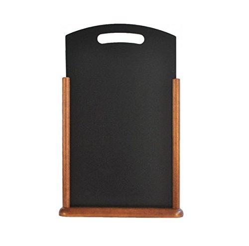 Visiodirect Ardoise de Table avec Poignée en Bois foncé - 45 x 21 cm