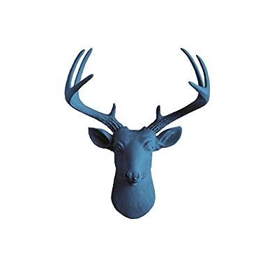 Wall Charmers Mini Faux Deer Head | The Virginia Room Decor Wall Art| Hand Finished Home Decor, Farmhouse Decor Bedroom Decor Bathroom Decor Office Decor Rustic Wall Decor Rustic Home Decor Accents