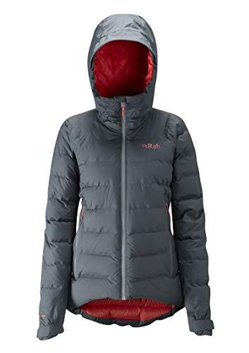 RAB W Valiance Jacket Grau, Damen Daunen Jacke, Größe 10 - Farbe Steel - Passata