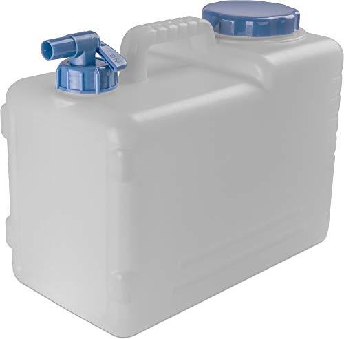 normani Wasserkanister Wassertank Trinkwasserbehälter Camping-Kanister mit Hahn und Deckel 10 Liter bis 23 Liter - HD-PE lebensmittelecht, geschmacks- und geruchsneutral Farbe 15 Liter
