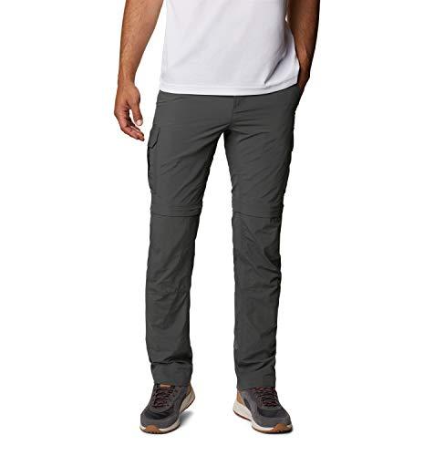 Columbia Silver Ridge II Pantalones de Senderismo Convertible, Hombre, Gris (Grill), W34/L32