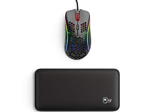 Glorious Model D- (Minus) Lightweight Gaming Mouse, Matte Black (GLO-MS-DM-MB) + Glorious Gaming Mouse Wrist Pad/Rest (Black)