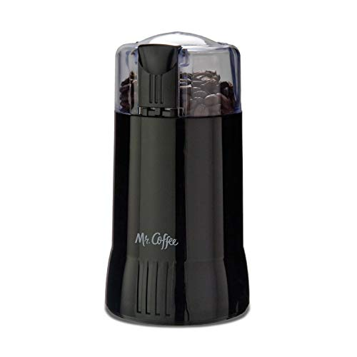Mr. Coffee Electric Coffee Grinder|Coffee Bean Grinder| Spice Grinder, Black