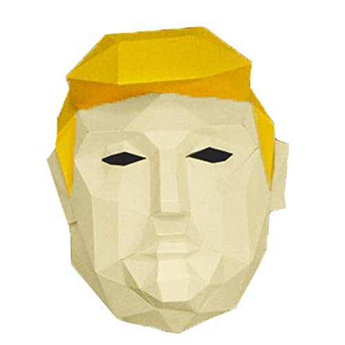 DIY 3D Paper Trump Masker Low Poly Voorgesneden Papercraft Kits Fancy Dress Mask