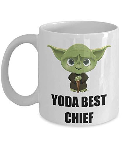 N\A Regalos de Fiesta de Navidad de cumpleaños para el Jefe de Personal Empleado de Oficina Compañero de Trabajo Personal Hombres Mujeres Star Wars Yoda Taza de café Divertida Mejor Personaliz