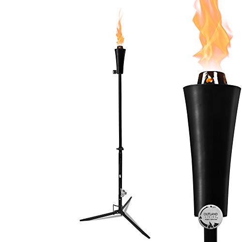 propane tiki torches 1lb Outdoor Propane Gas Tiki Style Torch - Easily Transform Your Place Into an Elegant Paradise with this Portable 71 inch Long Burning Torch Lighting That Will Compliment any Yard, Pathway, Backyard
