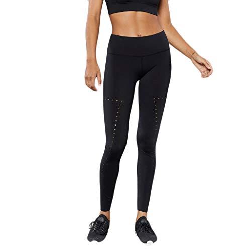 KLGDA Yoga Pants Workout Leggings for Women Fitting Exercise Fitness Running Yoga Jogging and Golf Pants Black